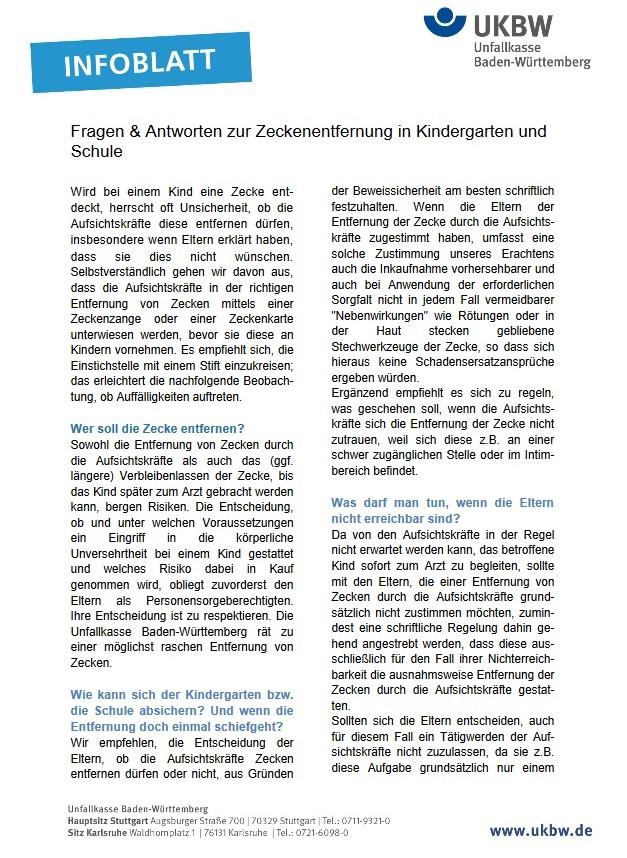 Infoblatt Zeckenentfernung (UKBW)