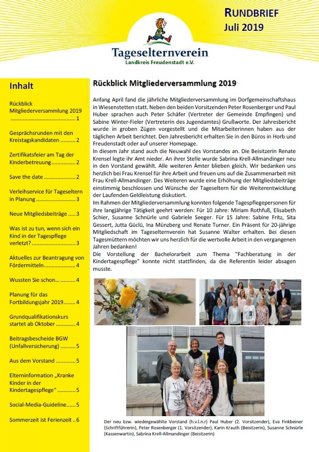 Rundbrief TPP Juli 2019